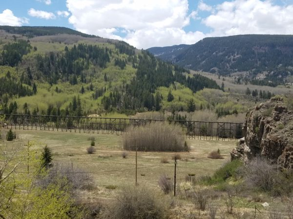 wooden trestle just south of minturn